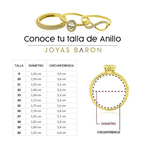 Anillo Oro Blanco 18kt Modelo Round.