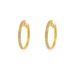 Aros Oro Amarillo 18kt Diamantes Doble.