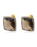 Aro de Diamante en Oro de 18 Kt Quarzo Fume