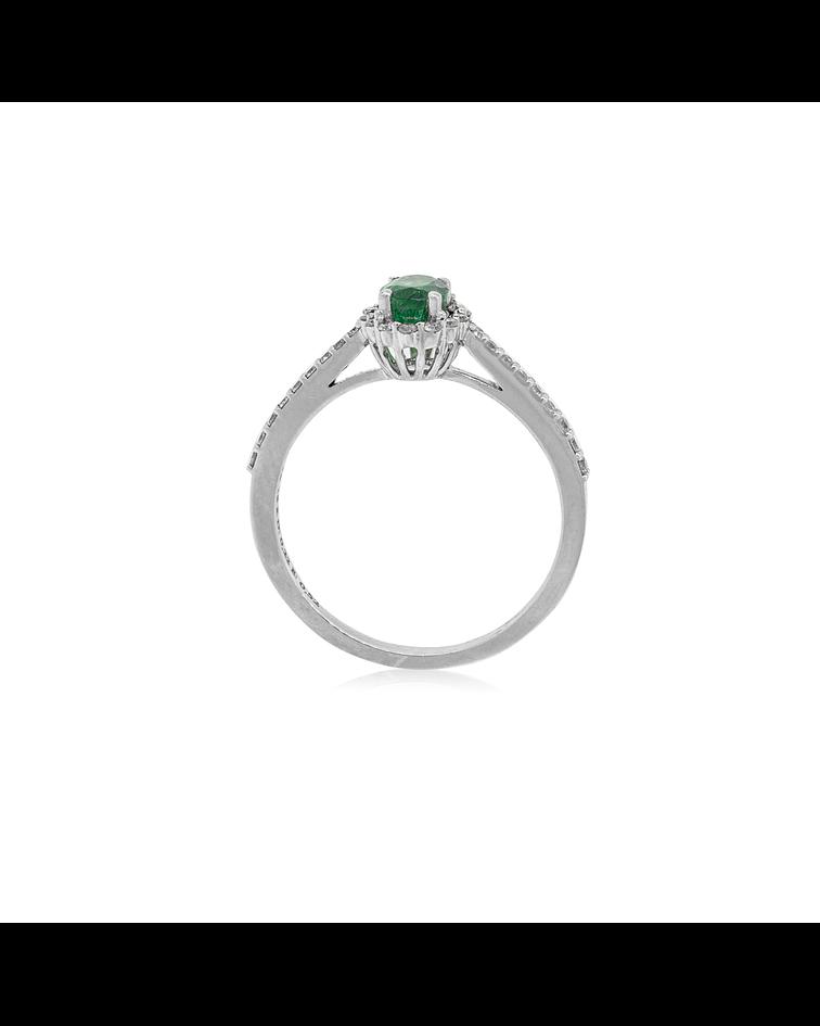 Anillo Oro Blanco 18kt Lady Diamantes.