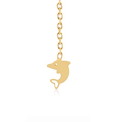 Anillo Oro 18kt Delfín Cadena
