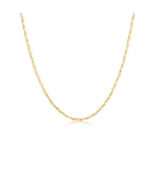 Collar Oro 18kt Eslabón Satinado