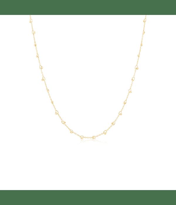 Collar Oro 18kt Bolita Labrada