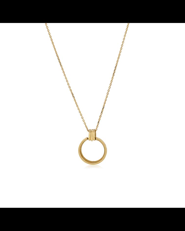 Collar Oro 18kt,  Circulo Diamantes