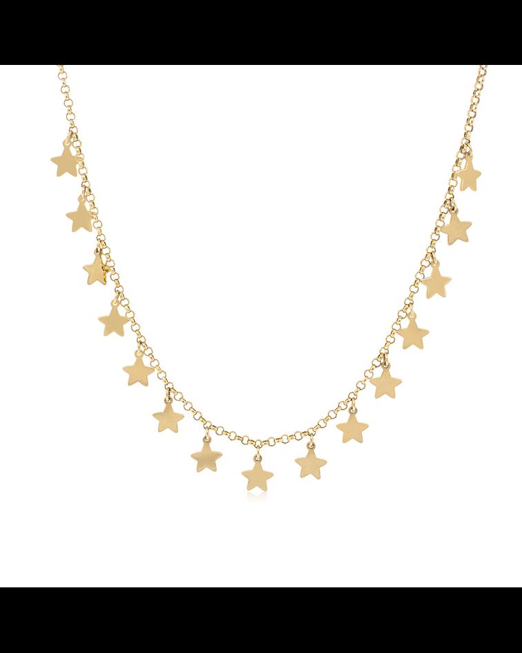 Collar Oro  18kt Estrellas