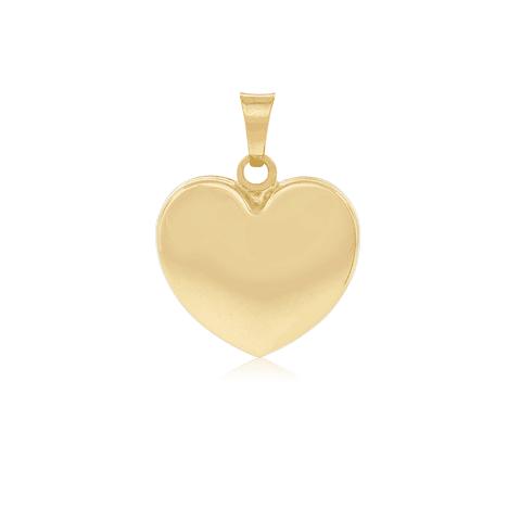 Colgante Oro 18kt  Corazón Satinado