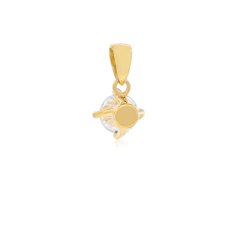 Colgante Oro 18kt  Circón 5,5mm