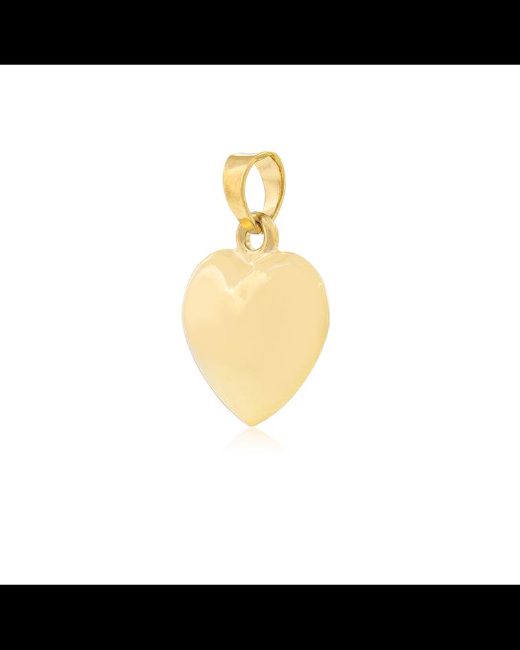 Colgante Oro 18kt  Corazón Liso