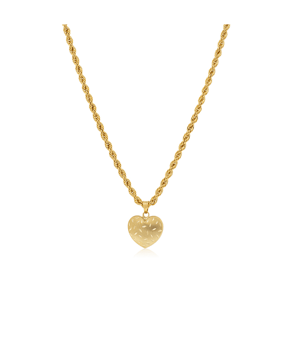 Collar Oro 18kt Corazón Satinado