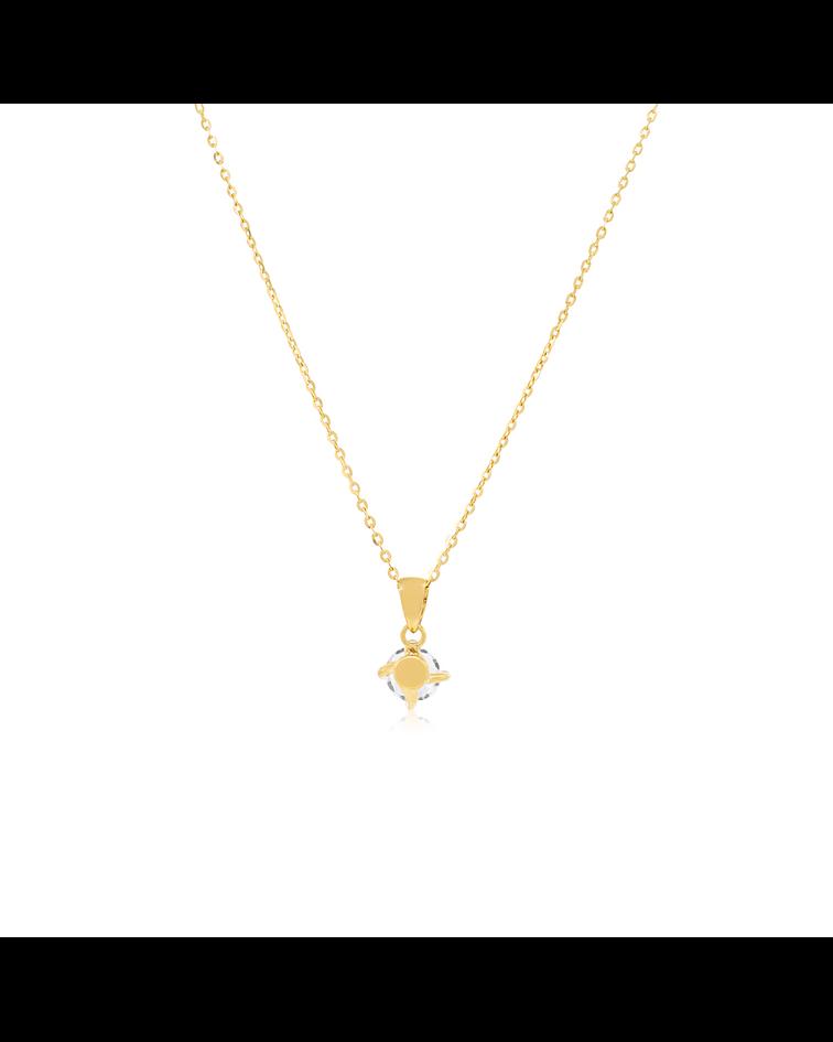 Collar Oro 18kt Grifa Circón