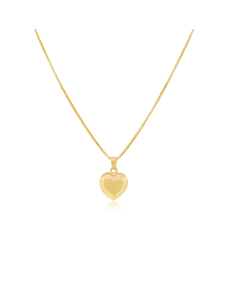 Collar Oro 18kt Corazón Liso