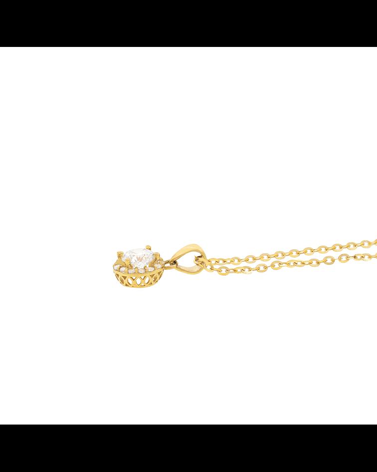 Collar Oro 18kt Circón 5mm