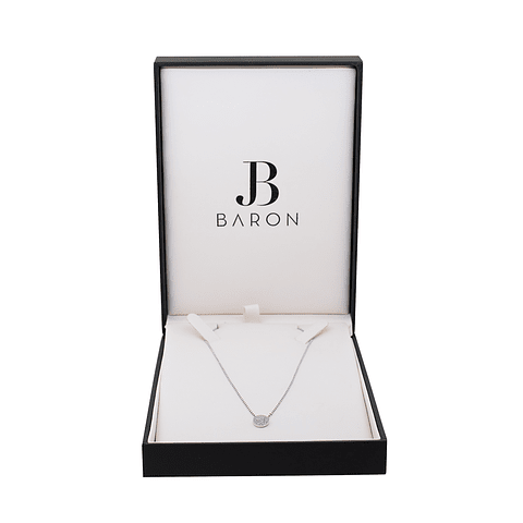 Collar Oro Blanco 18kt Diamantes.