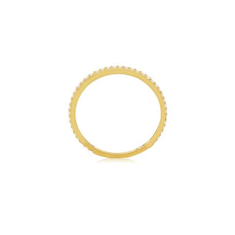 Anillo Oro 18kt Cintillo Circón