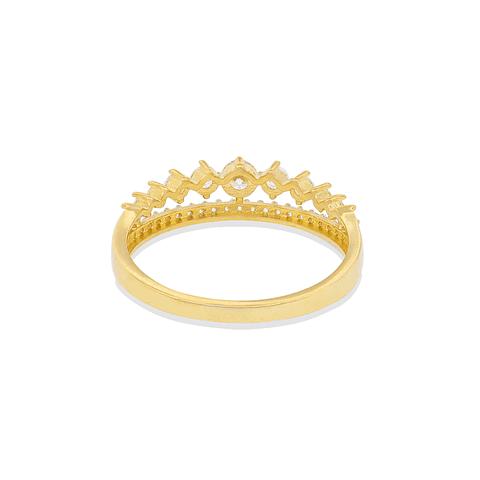 Anillo Oro 18kt Corona  Circón