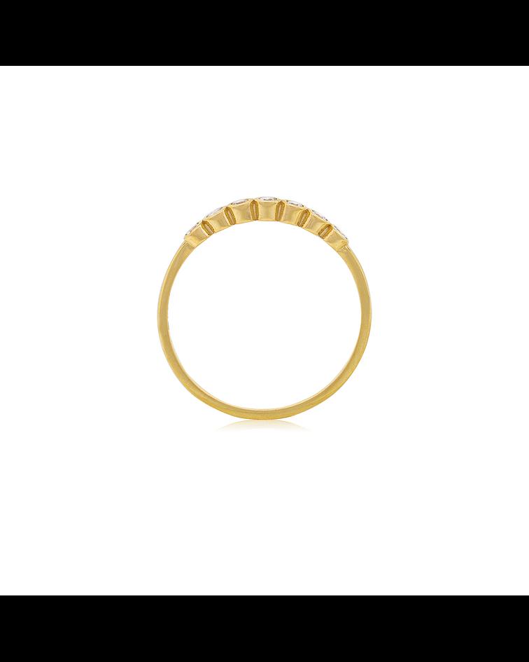 Anillo Oro 18kt  circones 2mm