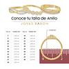 Argollas Oro 18kt Bicolor Royal Ingles 5,0mm Oro Rosa Miel.