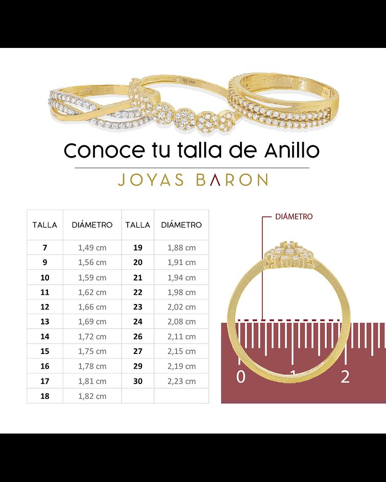 Argollas Oro 18kt Bicolor Count Ingles 5,0mm Oro Blanco.