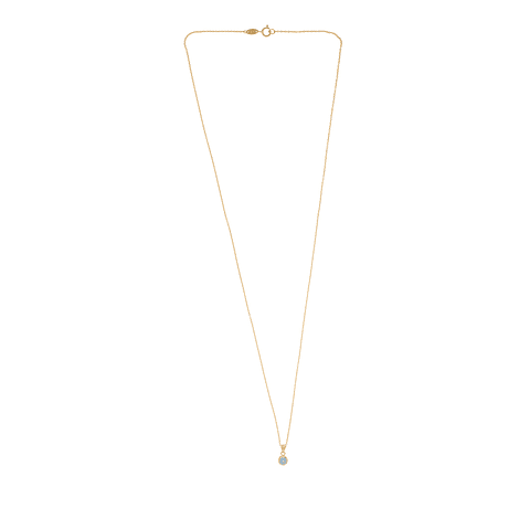 Collar Oro 18kt Agua Marina 5mm