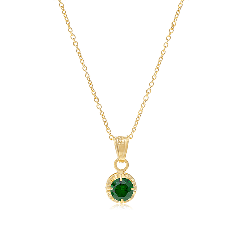 Collar Oro 18kt  Esmeralda 5mm