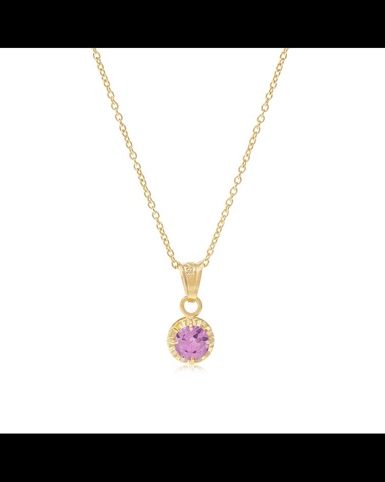 Collar Oro 18kt  Rosa de Francia 5mm