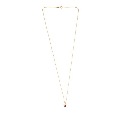Collar Oro 18kt  Rubí   5mm