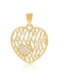 Colgante de Oro de 18 Kt Corazón calado circón