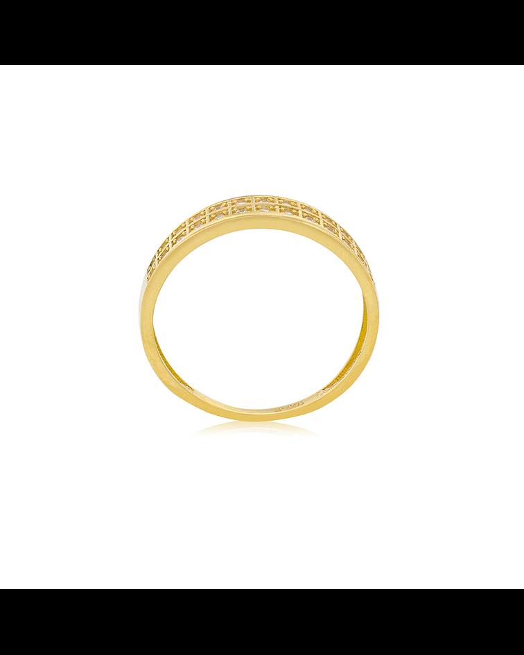 Anillo Oro 18kt Circón
