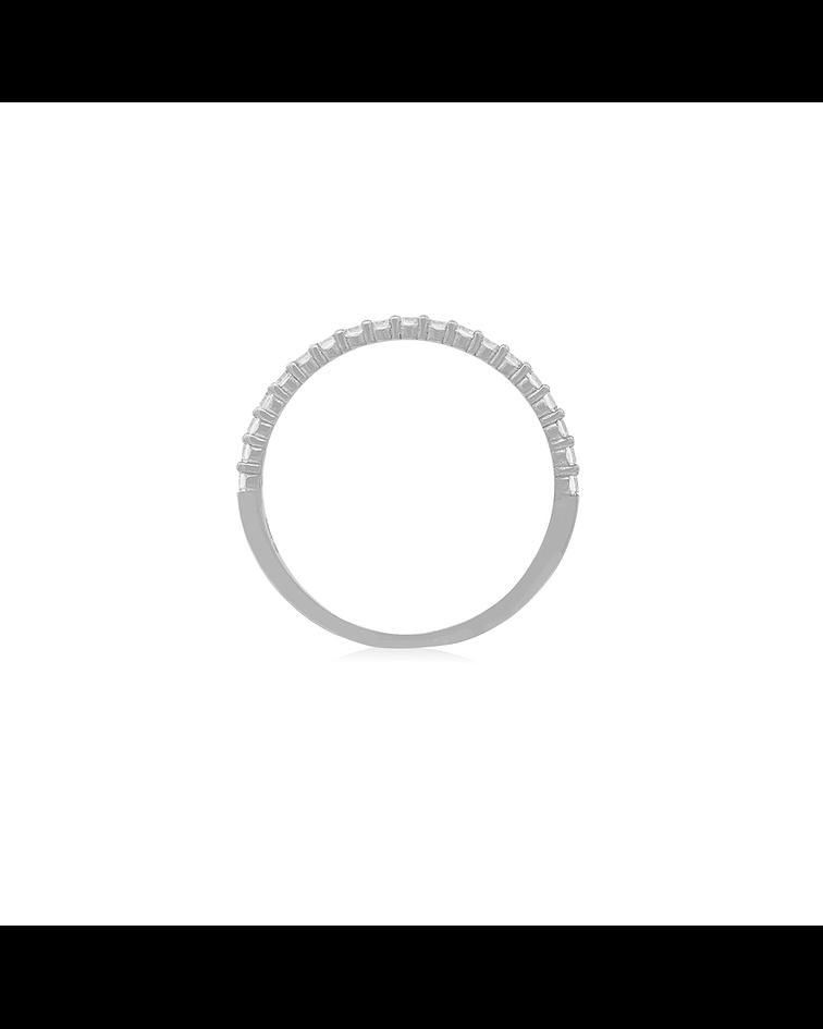 Anillo Oro Blanco 18kt Circón