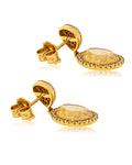 Aros Oro Amarillo 18kt Diamantes y Topazio