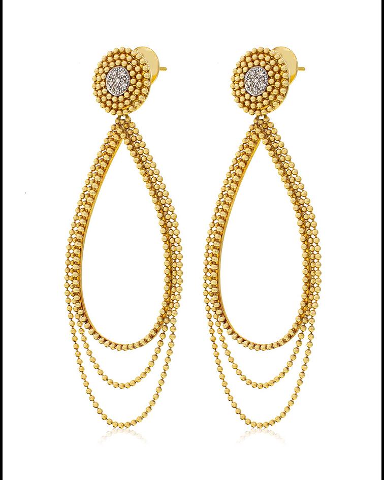 Aros Oro Amarillo 18kt Diamantes