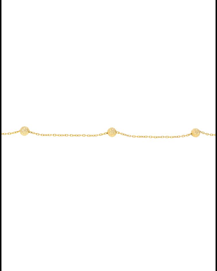 Pulsera oro Amarillo 18kt esferas talladas