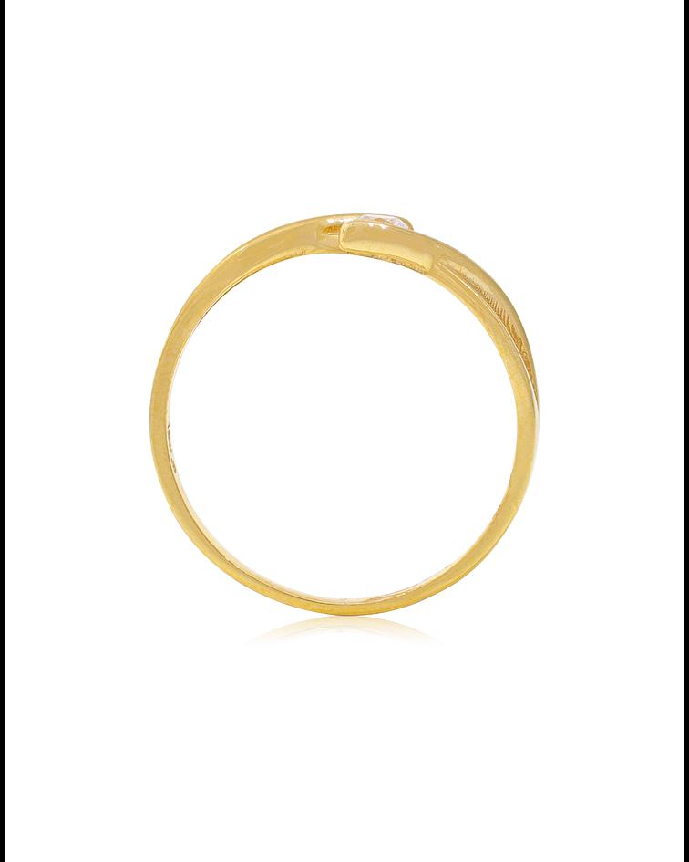 Anillo oro amarillo 18kt circon