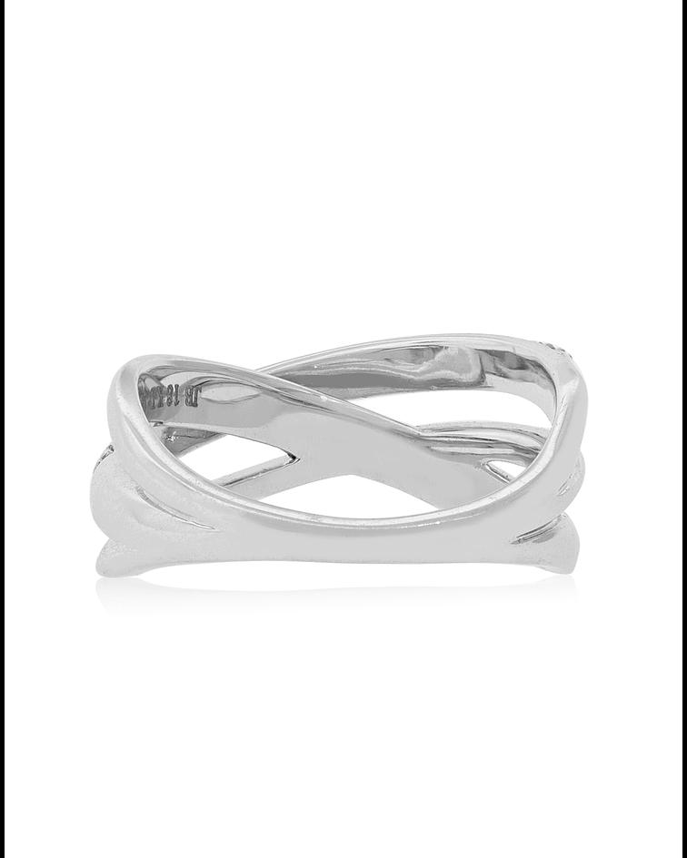 anillo oro Blanco 18kt Diamantes 28 ptos