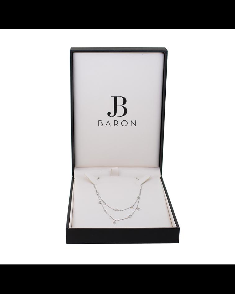 Collar oro blanco 18kt Diamantes, Gotas