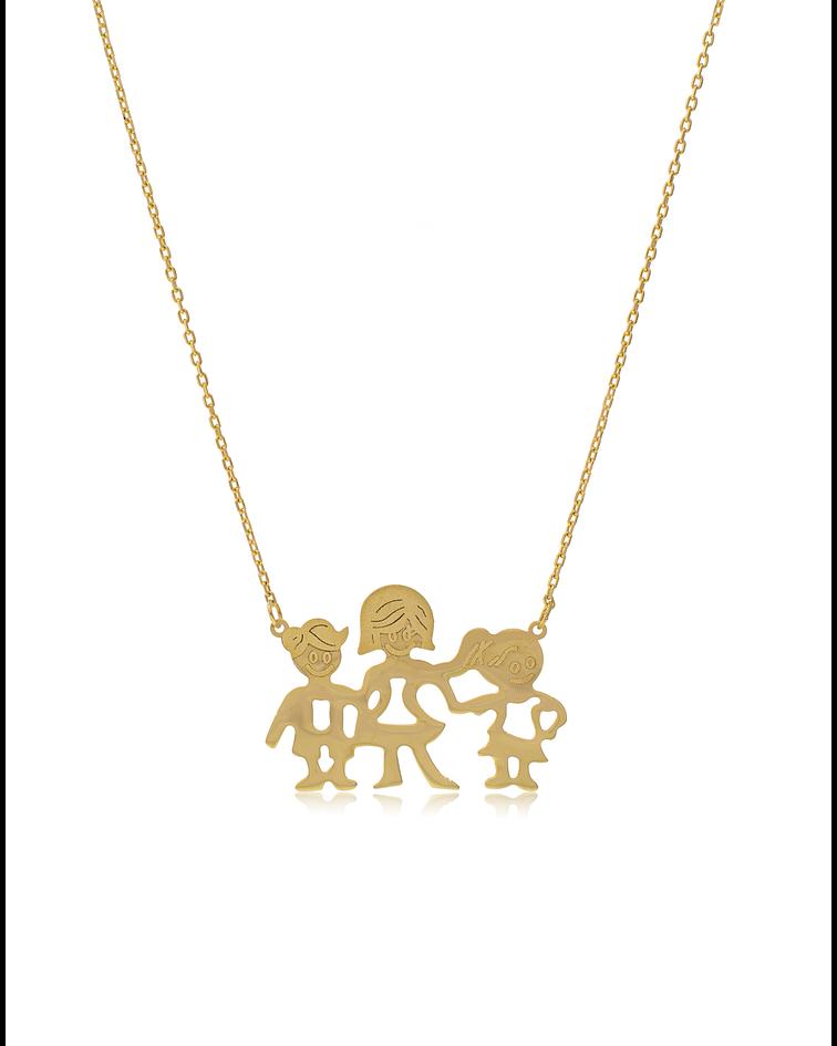 Collar oro amarillo 18kt. Familia