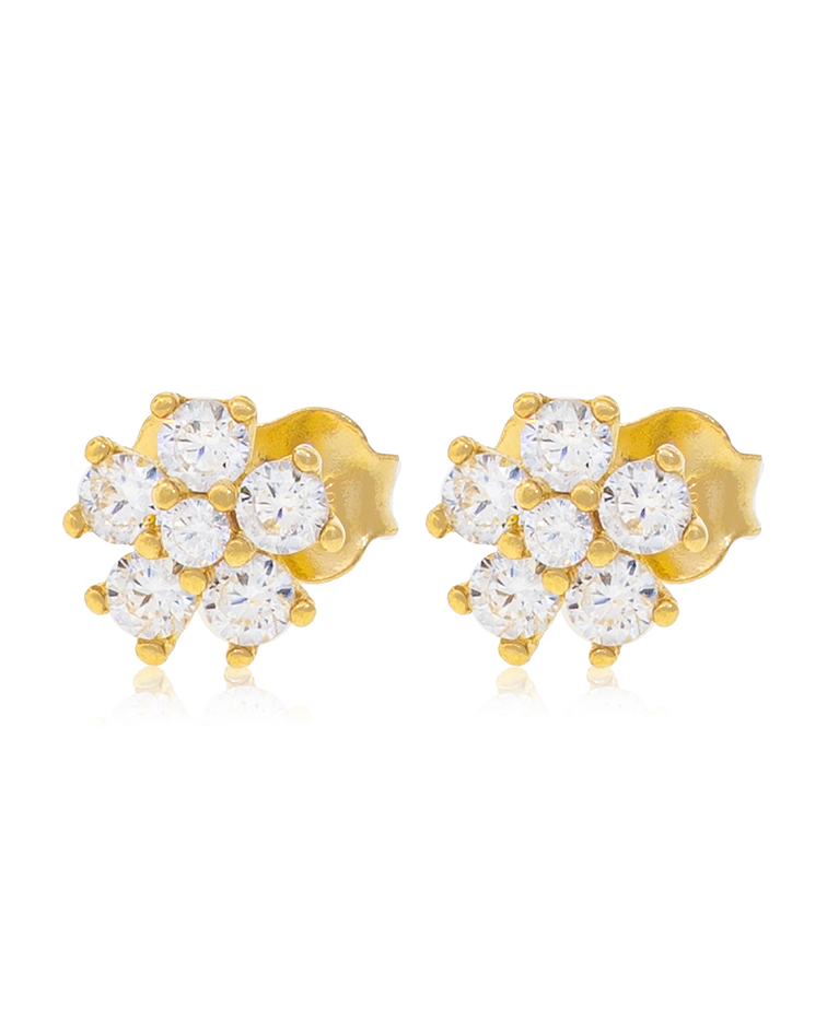 Aro oro amarillo 18kt Flor circones