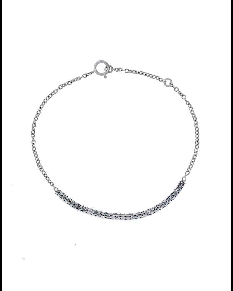 Pulsera Oro Blanco 18kt Diamantes Negros