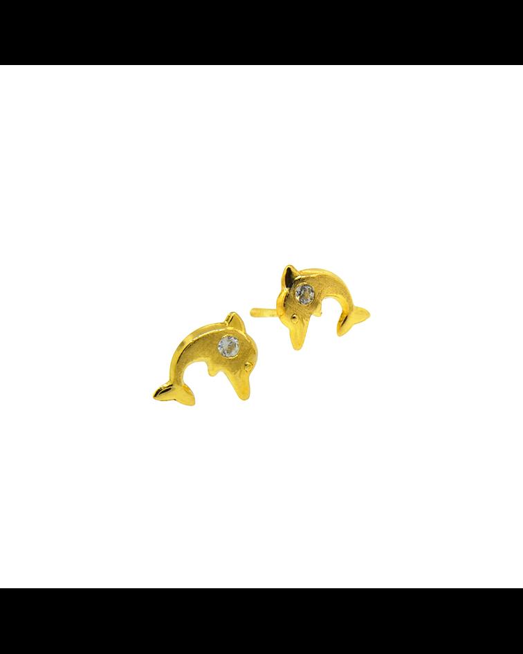 Aros Oro 18kt Delfin y Circones 1,0mm