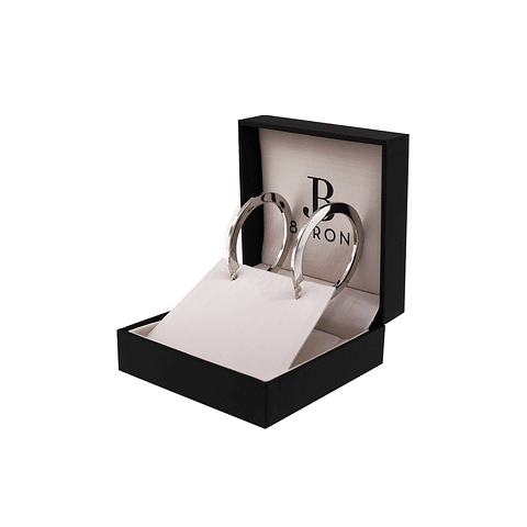 Aros de 100% Plata Italiana 925 modelo argolla plana
