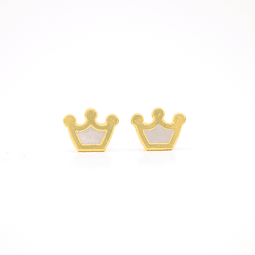 Aros Oro 18kt Corona con Nacar