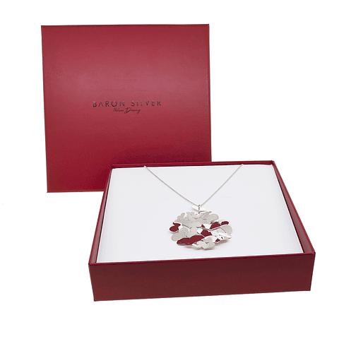 Collar Plata Italiana 925 modelo filigrana Corazones