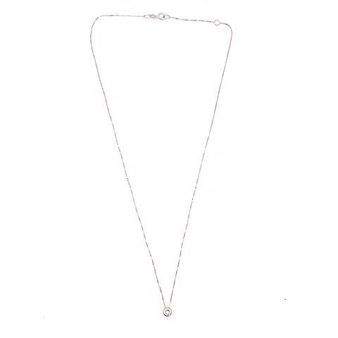 Collar de Diamantes en Oro 18 Kt Modelo Punto de Luz