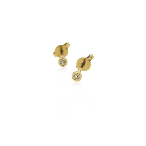 Aros Oro 18kt Diamantes Punto de Luz 5ptos