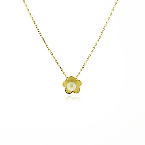 Collar y Aros Oro 18kt Perla Cultivada