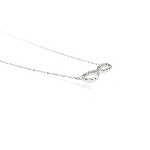 Collar Oro Blanco 18kt 0,66ct Diamantes infinito