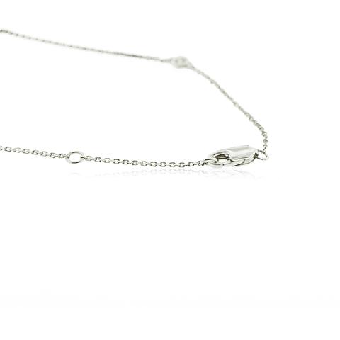 Collar Oro Blanco 18kt Diamantes 32ptos