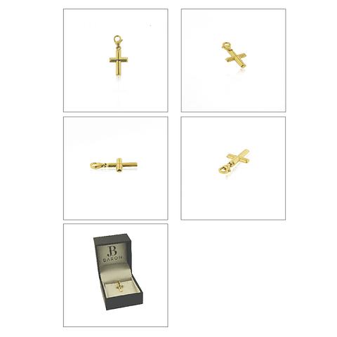 Colgante Oro 18kt Cruz Relieve