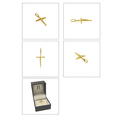 Colgante Oro 18kt Cruz Cristo