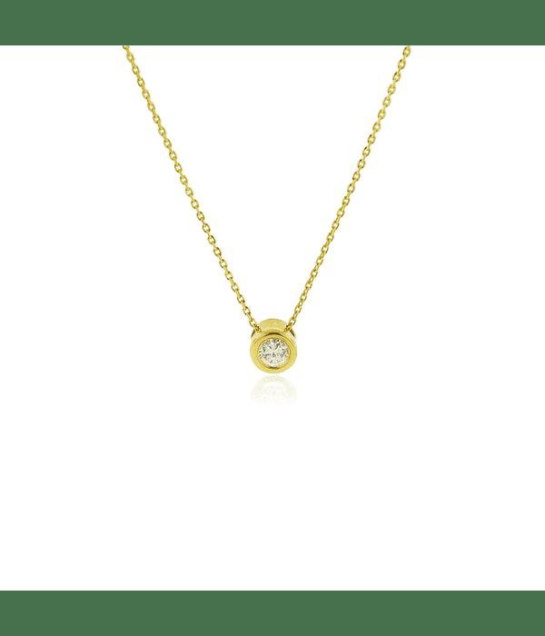 Collar Oro 18kt Diamantes Punto de Luz